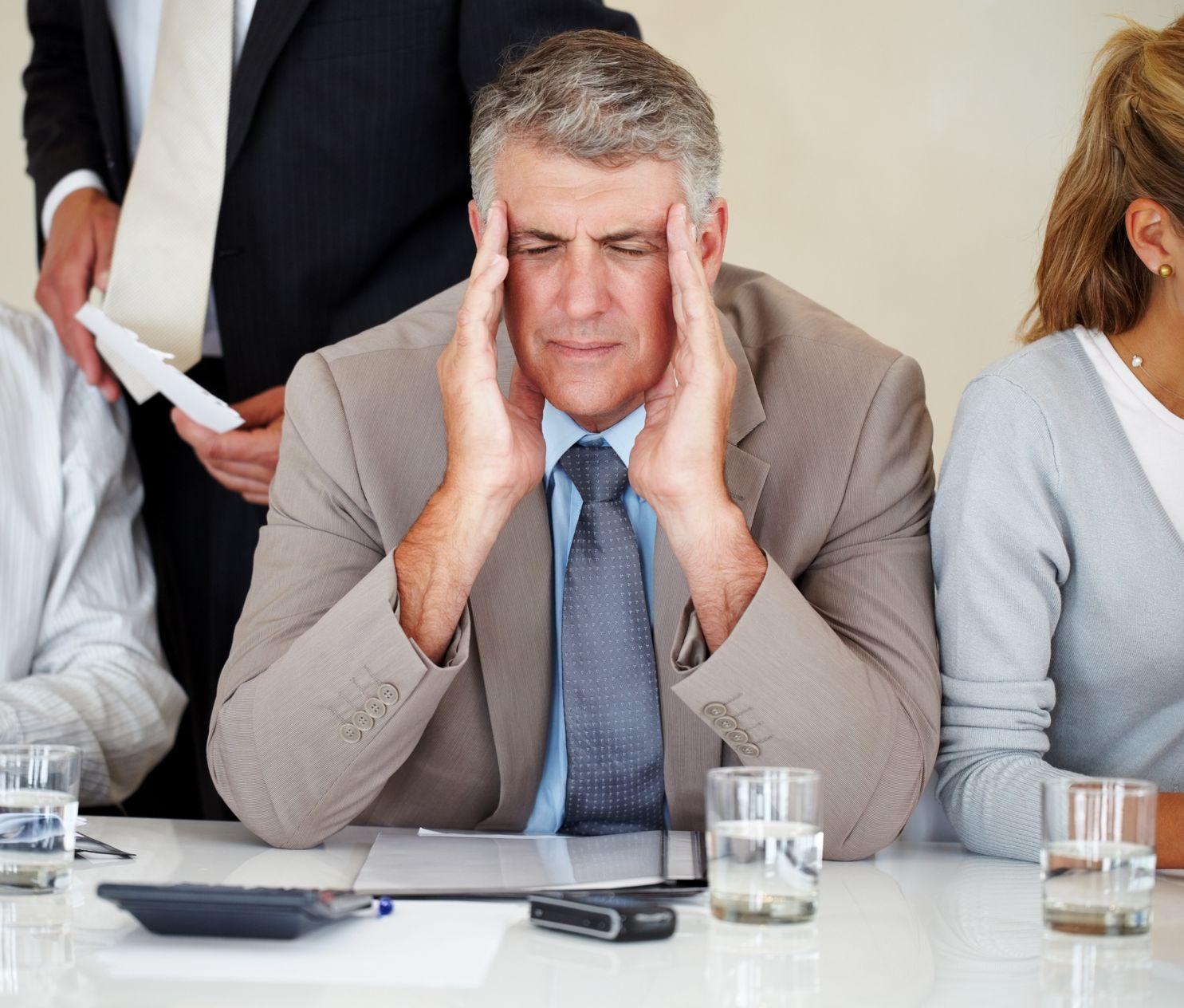 chef d'entreprise maux de tête impression